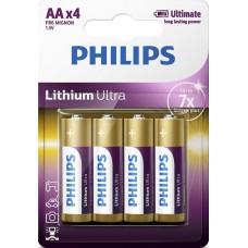 Батарейка Philips Lithium Ultra AA, 4шт./уп.