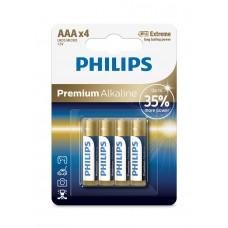 Батарейка Philips Premium Alkaline AAA, 4шт./уп.