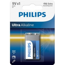 Батарейка Philips Ultra Alkaline Крона (6LR61)