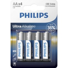 Батарейка Philips Ultra Alkaline AA, 4шт./уп.