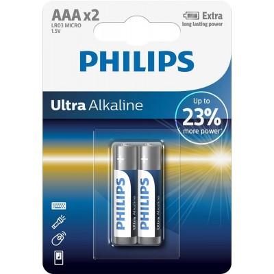 Батарейка Philips Ultra Alkaline AAA, 2шт./уп.