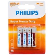 Батарейка Philips LongLife Zinc Carbon AAA, 4шт./уп.