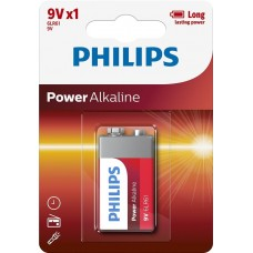 Батарейка Philips Power Alkaline Крона (6LR61)
