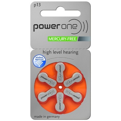 Батарейки PowerOne 13 (PR48) | 6 шт./уп.
