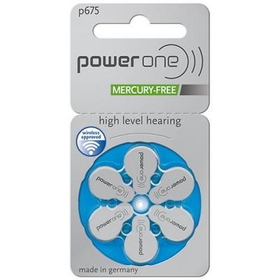 Батарейки PowerOne 675, 6 шт./уп.