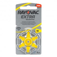 Батарейки RAYOVAC EXTRA ADVANCED 10, 6 шт./уп.