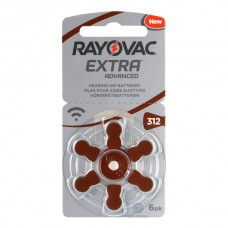 Батарейки RAYOVAC EXTRA ADVANCED 312, 6 шт./уп.