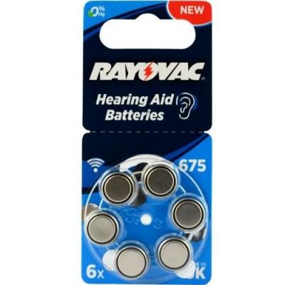 Батарейки RAYOVAC Acoustic Special 675, 6 шт./уп.