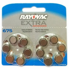 Батарейки RAYOVAC EXTRA ADVANCED 675, 12 шт./уп.