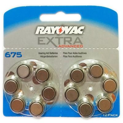 Батарейки RAYOVAC EXTRA ADVANCED 675, 12 шт./уп.