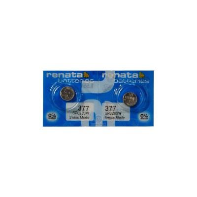Батарейка Renata 377 (SR626SW) Silver Oxide 1.55V, 2 шт./уп.