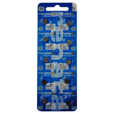 Батарейки Renata 377 (SR626SW) Silver Oxide 1.55V, 10 шт./уп.