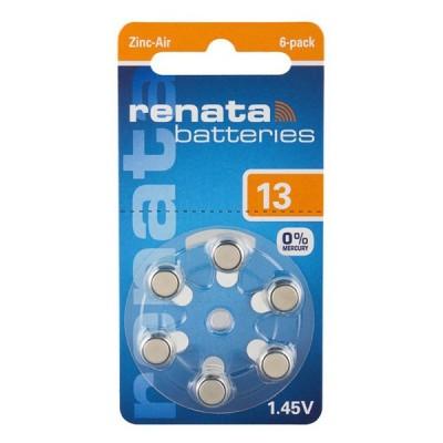 Батарейки Renata 13, 6 шт./уп.
