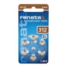 Батарейки Renata 312, 6 шт./уп.