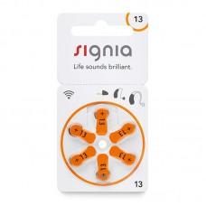 Батарейки Signia (Siemens) 13, 6 шт./уп.