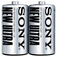 Батарейки Sony Ultra Heavy Duty D (R20) ZINK-CARBON, 2 шт./уп. (SUM1-NUB2A)