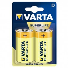 Батарейка VARTA SUPERLIFE D ZINC-CARBON, 2 шт./уп. (02020101412)