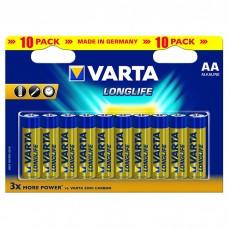 Батарейки VARTA LONGLIFE AA, 10 шт./уп. (04106101461)