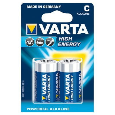 Батарейка VARTA HIGH Energy C ALKALINE, 2 шт./уп. (04914121412)