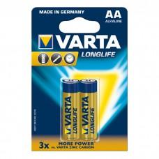 Батарейки VARTA LONGLIFE AA, 2 шт./уп. (04106101412)