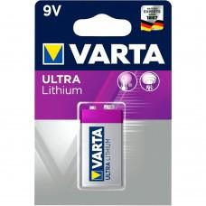 Батарейка VARTA ULTRA Lithium Крона 9V (6LR61)