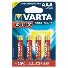 Батарейка VARTA MAX T. AAA ALKALINE, 4 шт./уп. (04703101404)