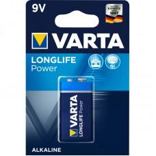 Батарейка VARTA Longlife Power Alkaline, Крона 9V (6LR61) (04922121411)