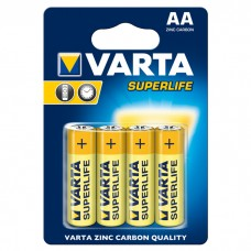 Батарейки VARTA SUPERLIFE AA ZINC-CARBON, 4 шт./уп. (02006101414)
