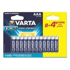 Батарейка VARTA HIGH Energy AAA ALKALINE, 12 шт./уп. (04903121472)