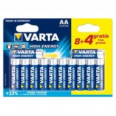 Батарейки VARTA HIGH Energy AA, 12 шт./уп. (04906121472)