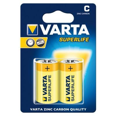 Батарейка VARTA SUPERLIFE C ZINC-CARBON, 2 шт./уп. (02014101412)