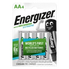 Аккумуляторы Energizer Recharge Extreme AA 2300 mAh, LSD Ni-MH, 4 шт./уп.