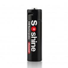 Аккумулятор Soshine AA 2400 mAh 1.5V, Li-ion, microUSB