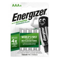 Аккумуляторы Energizer Recharge Power Plus AAA 700 mAh, LSD Ni-MH, 4 шт./уп.