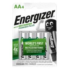 Аккумуляторы Energizer Recharge Power Plus AA 2000 mAh, LSD Ni-MH, 4 шт./уп.