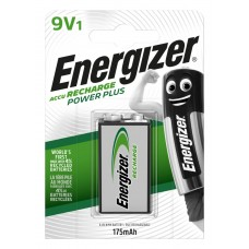 Аккумулятор Energizer Recharge Power Plus 175 mAh, Крона 9V, LSD Ni-MH