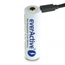 Аккумулятор EverActive 18650 3200 Series Li-ion с micro USB, с защитой (Protected)