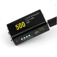Аккумулятор Soshine 500 mAh КРОНА 9V, Li-ion c USB