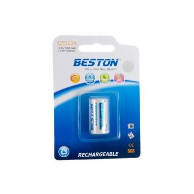 Аккумулятор Beston 16340 (CR123A) 600 mAh, 3V, LiFePo (AAB1844)