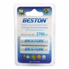 Аккумуляторы BESTON AA 2700 mAh READY TO USE (2 шт. в блистере)