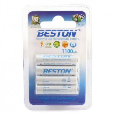 Аккумулятор BESTON AAA 1100 mAh RTU, 4 шт./уп. (AAB1801)