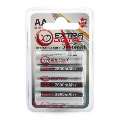 Аккумулятор Extradigital AA 2800 mAh Ni-MH (4pcs)