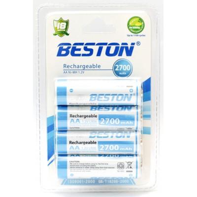 Аккумуляторы АА BESTON 2700 mAh READY TO USE (4шт)