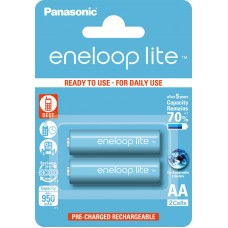 Аккумуляторы Panasonic Eneloop Lite AA 1000 mAh (min.950mah), 2 шт./уп. (BK-3LCCE/2BE)