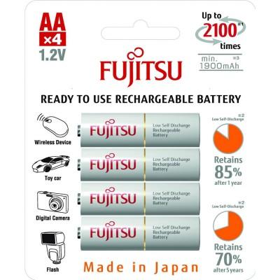 Аккумуляторы Fujitsu AA 2000 mAh, 4 шт./уп., (HR-3UTCEU(4B))