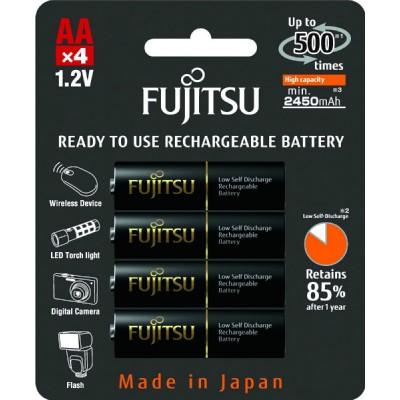 Аккумуляторы Fujitsu AA 2550 mAh, 4 шт./уп., (HR-3UTHCEU(4B))