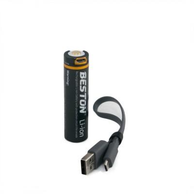 Аккумулятор Beston 70M-35 18650 3500 mAh Li-ion со встроенным зарядным от micro USB, с защитой (Protected), (AAB1851)
