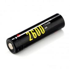 Аккумулятор Soshine 18650 2600 mAh Li-ion с micro USB, с защитой (Protected)