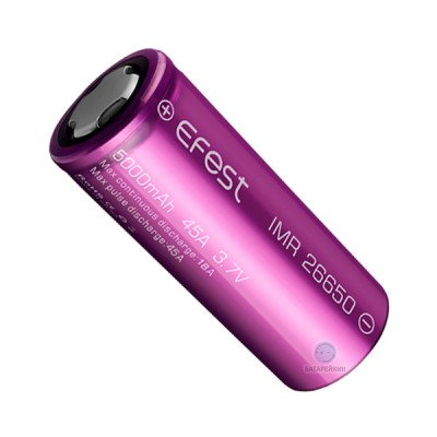 Аккумулятор Efest IMR26650 5000 mAh, 18A, Li-ion