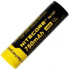 Аккумулятор Nitecore NL147 14500 750 mAh Li-ion с защитой (Protected)